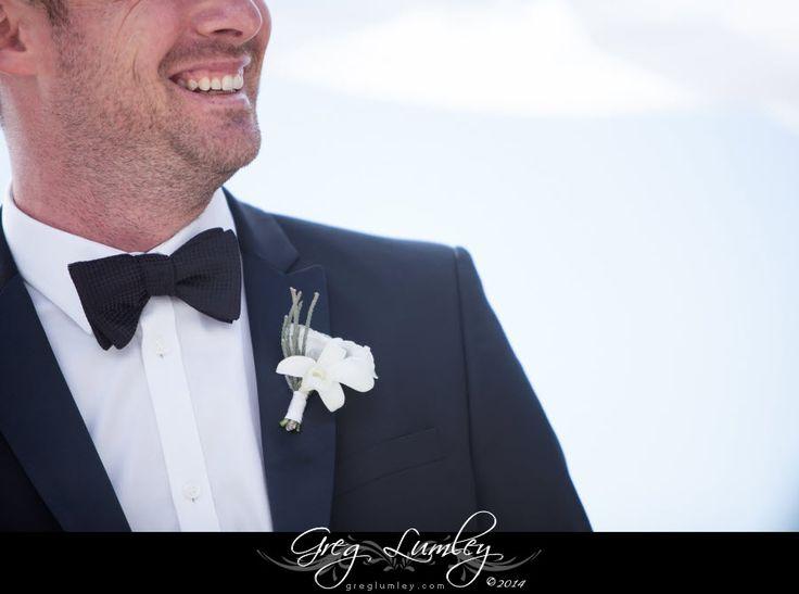 {Toni & Bari} Classic white buttonhole