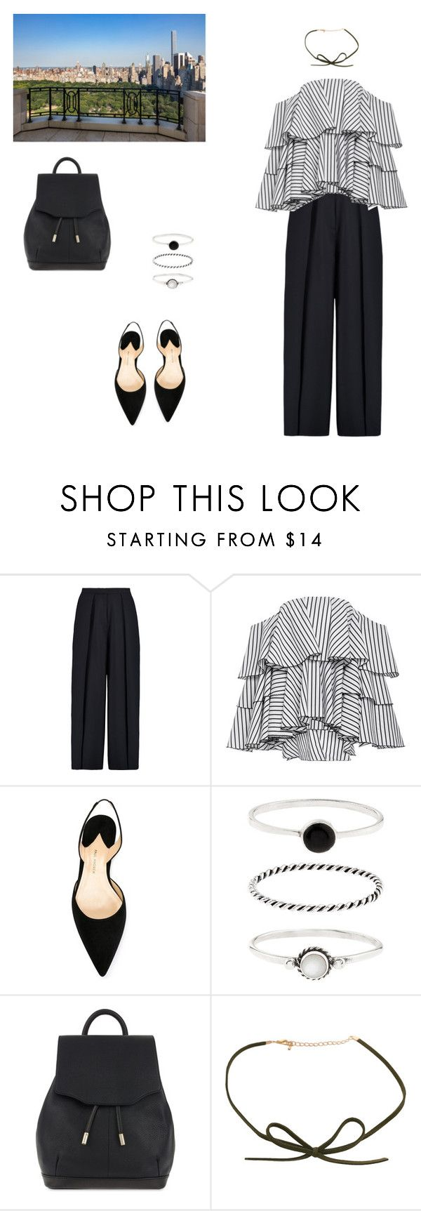 """Afternoon at New York"" by unicorntears01 ❤ liked on Polyvore featuring Iris & Ink, Caroline Constas, Paul Andrew, Accessorize and rag & bone"