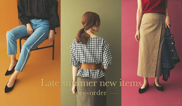 Late summer new items / pre-order - URBAN RESEARCH ONLINE STORE