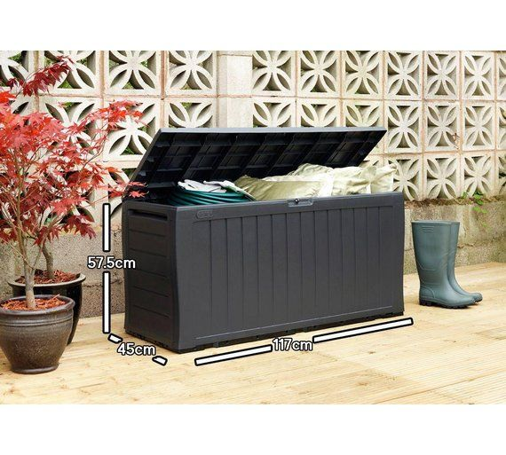 Buy Keter Wood Effect Garden Storage Box - Grey at Argos.co.uk - Your Online Shop for Garden storage boxes and cupboards, Conservatories, sheds and greenhouses, Home and garden.
