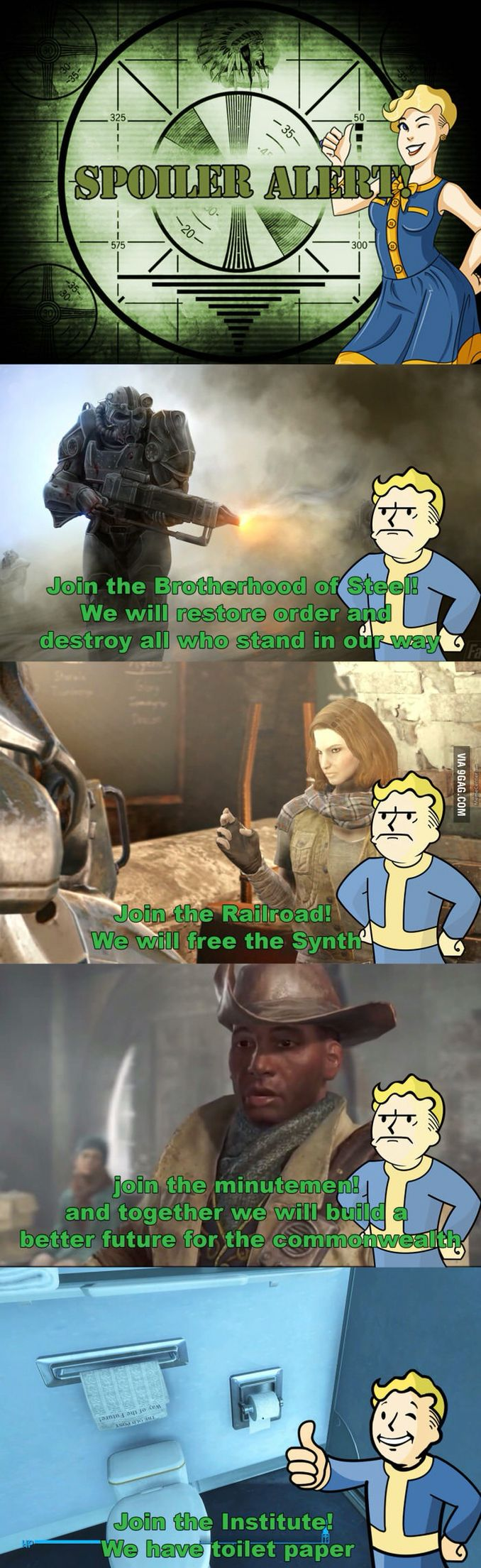 Fallout 4 Factions in a Nutshell.
