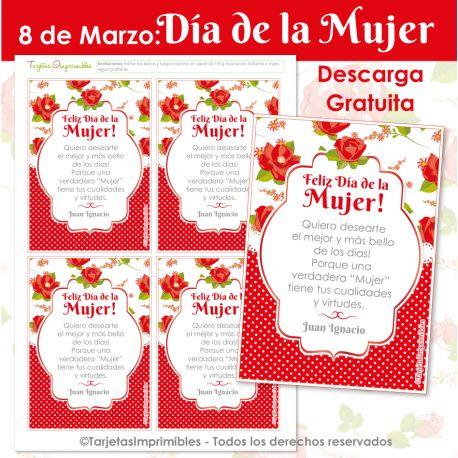 Día de la Mujer tarjetas