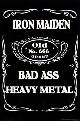 ☮ American Hippie Rock Music Poster ~ IRON MAIDEN~BAD ASS METAL MUSIC
