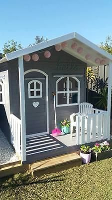 Kids Cubby House Billie Outdoor PlayHouse Timber Wooden188cm High Del Available in Toys, Hobbies, Outdoor Toys, Cubby Houses | eBay