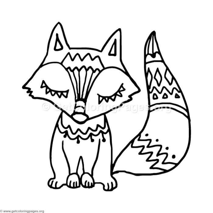 Free Instant Download Fox Zentangle Coloring Pages Coloring Coloringbook Coloringpages Fox Coloring Page Fox Drawing Easy Coloring Pages