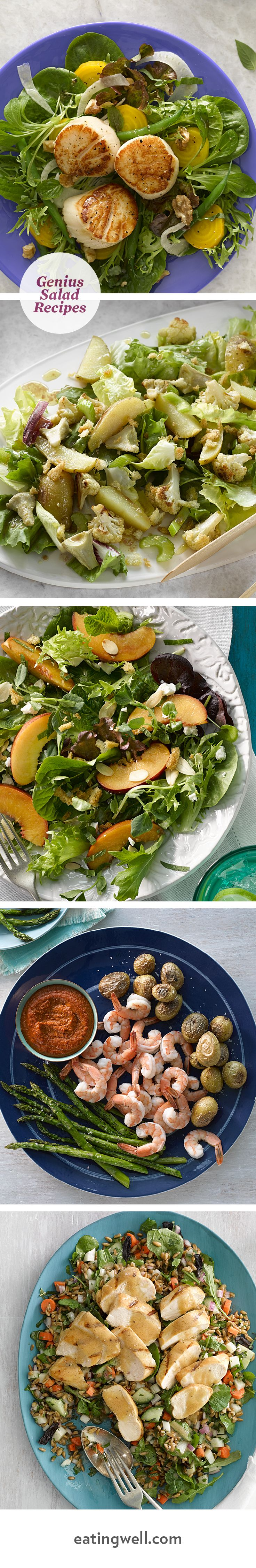 Fresh seasonal produce offers plenty of reasons to try one of our deliciously satisfying salad recipes for dinner.