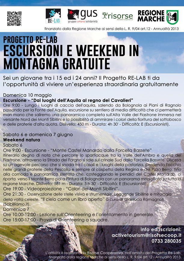 Attività Risorse Cooperativa: Escursioni in montagna