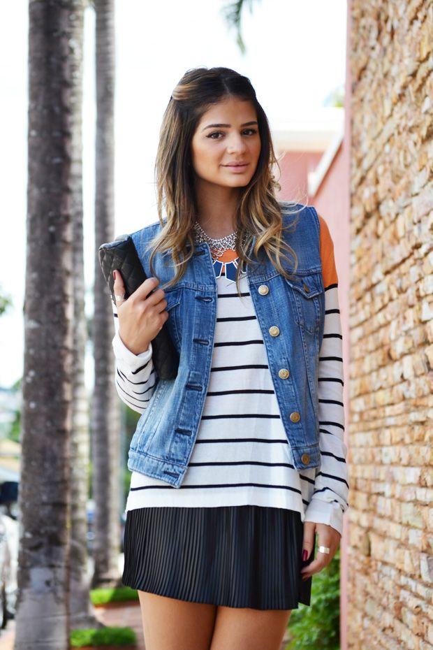 streetstyle fashion - jean vest