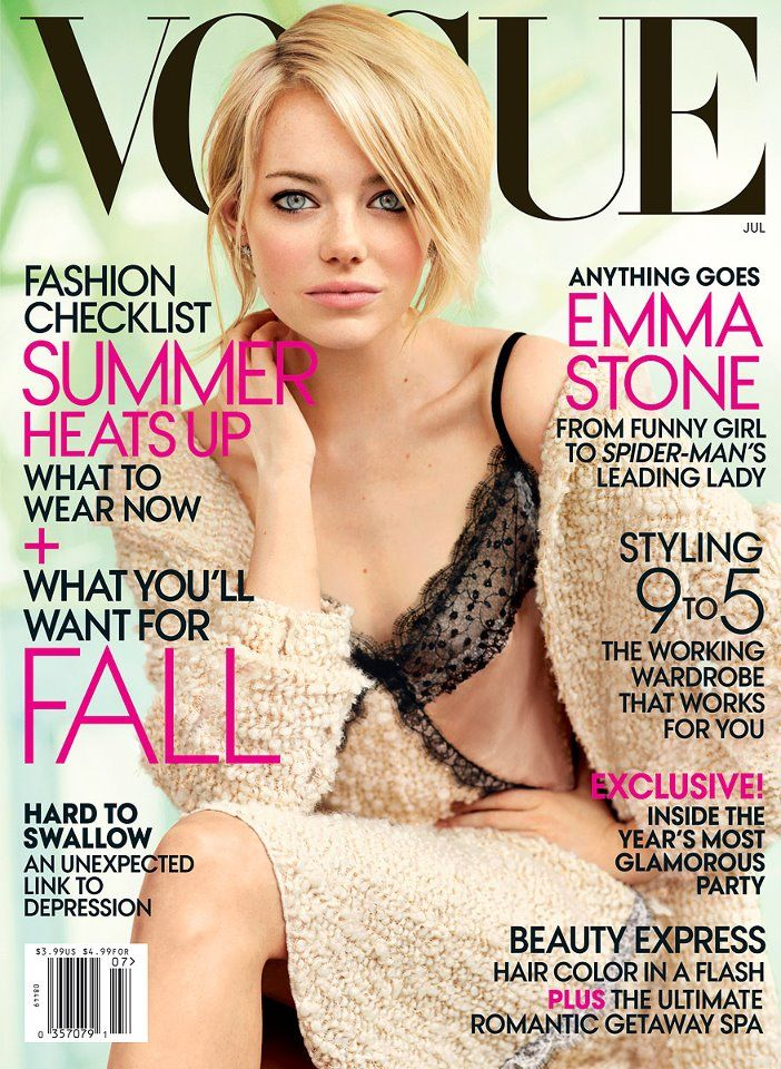 Emma Stone on the cover of Vogue