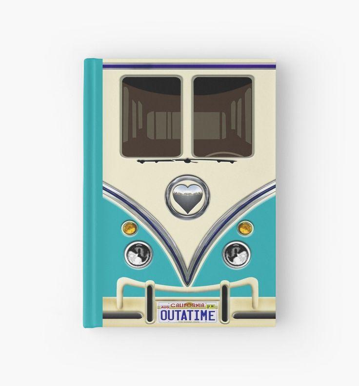 kawaii Blue teal love bug mini bus Hardcover Journals @pointsalestore #HardcoverJournals #cover #Journals #book #funny #cute #fun #lol #veedub #golf #kombi #minivan #minibus #beetle #bus #camper #retro #splitwindow #van #vintage #bumper #car #lovecar #offroad #campercar #microbus #pickup #transporter