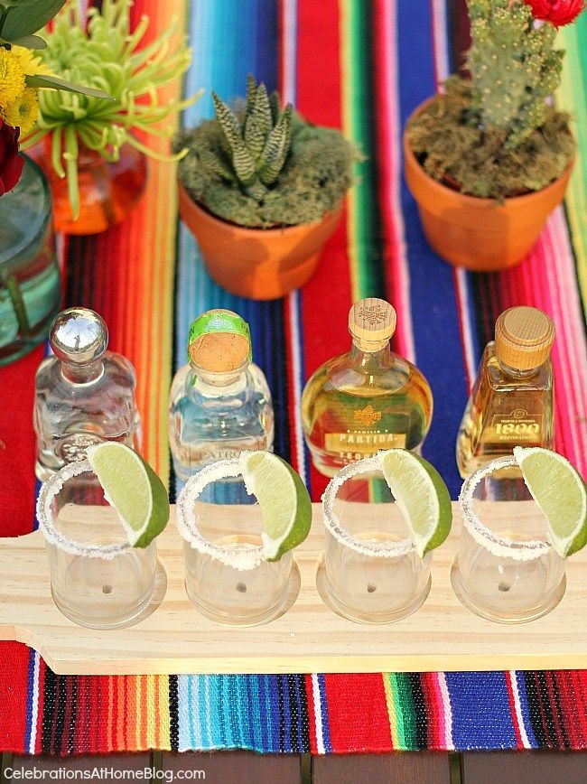 You'll love these tabletop and entertaining ideas for Cinco de Mayo - tequila tasting