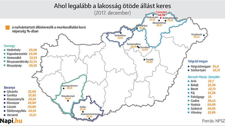 Megjött a magyar települések feketelistája - térképen a kettészakadt ország - Napi.hu