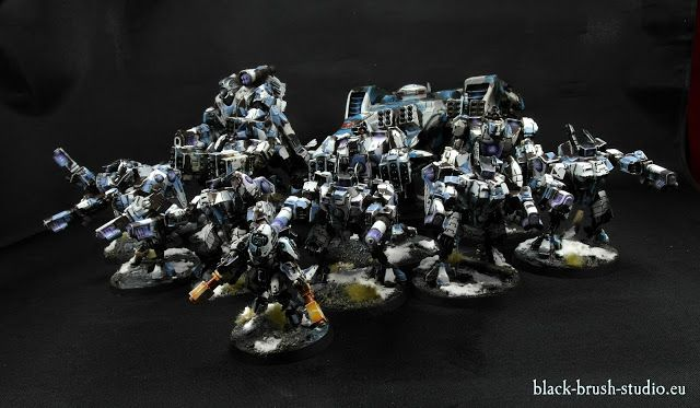 Black Brush Studio - Miniature painting services: Tau Empire: An Army in Winter Camo Scheme