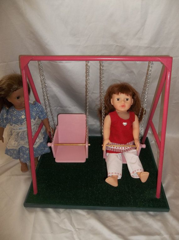 Swing Set for American Girl Doll and All 18 von AllDolledUpInPeoria