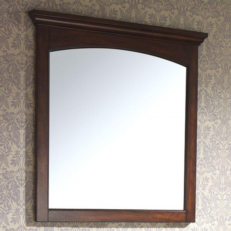 Mahogany bathroom mirror