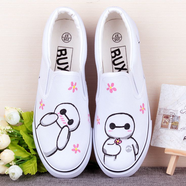 Baymax Printing For Canvas Shoes
