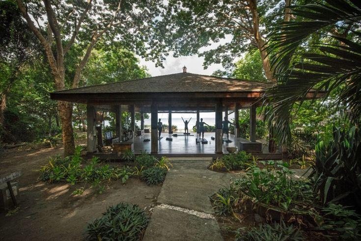 laluna beach front yoga pavilion