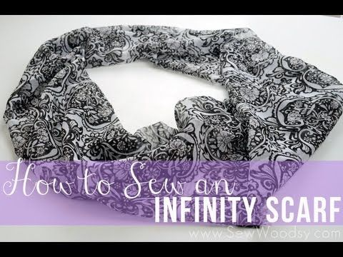 How to Make an Infinity Scarf- DIY Sewing Tutorial - YouTube