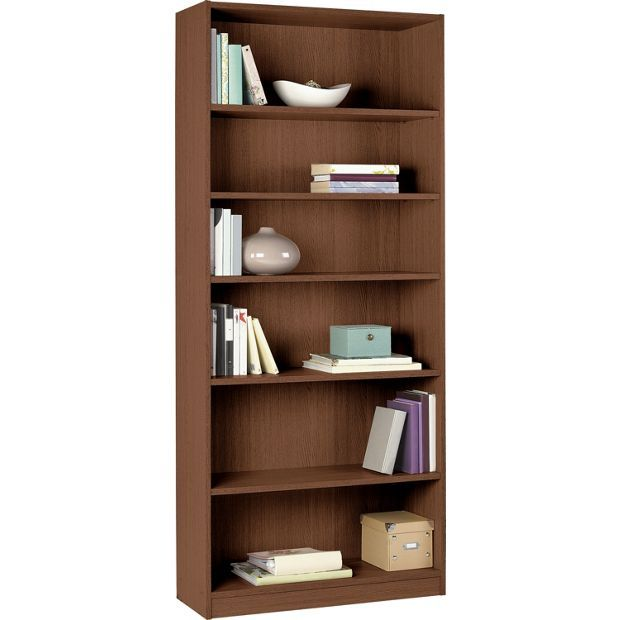 Home Maine Tall And Wide Extra Deep Bookcase Walnut Effect At Argos Co