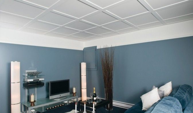 Beau plafond suspendu rdc pinterest - Plafond suspendu insonorisant ...