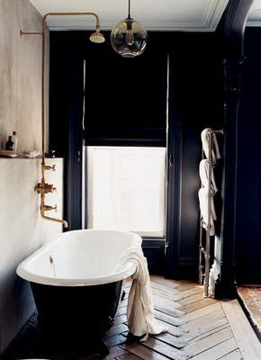 black and white, bathroom design, industrial chic