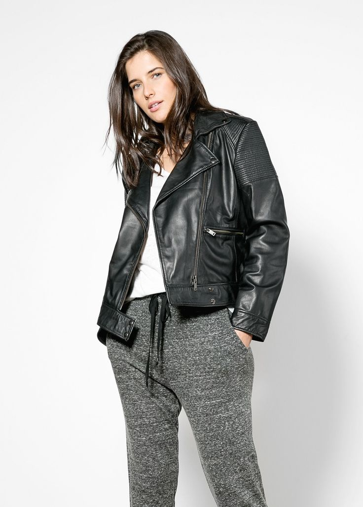 Plus size leather motorcycle jackets