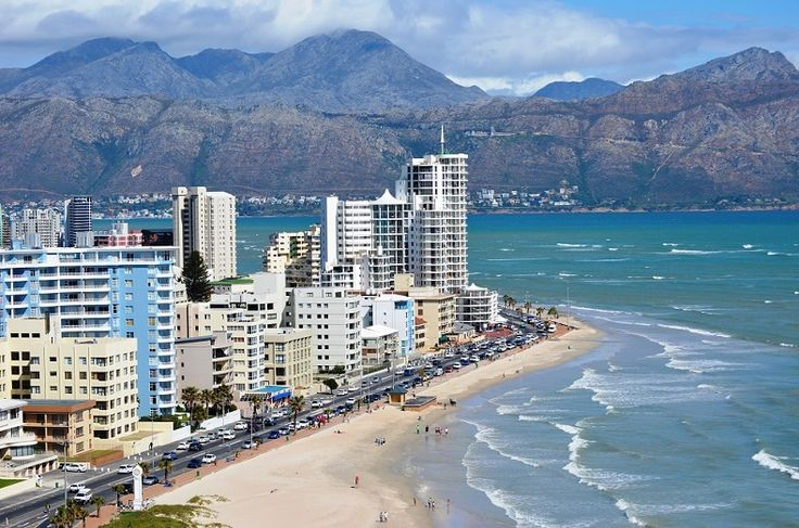 Strand's Golden Mile - probably the safest and warmest beach in the Cape to swim at. Almost 5 kilometers of mostly sandy beach - voted top 20 beach in South Africa and in 2008 the best family beach in the country. #strand #beach #sandybeach #topbeach
