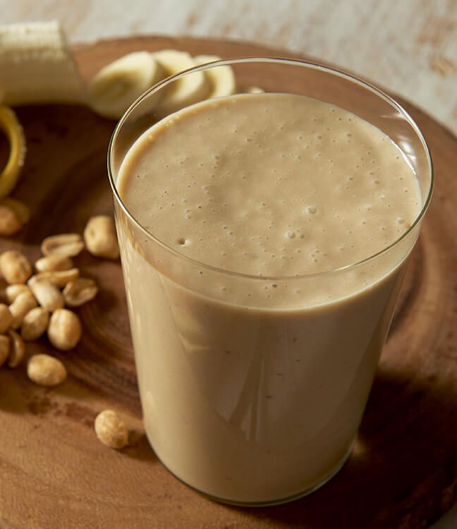 Blend it off with a French Vanilla Peanut Butter Banana Smoothie!