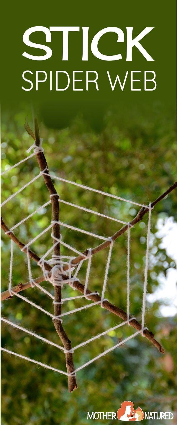 Stick Spider Webs | Spider web craft | Spider Halloween  Craft