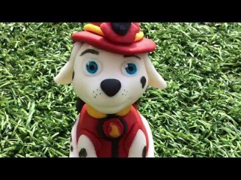 Como hacer Marshall de patrulla canina en fondant - YouTube