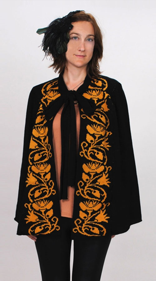 New machine Knitting Pattern. Love this cape!  Only £3.00 for the pattern  http://www.twistedangle.co.uk/shop