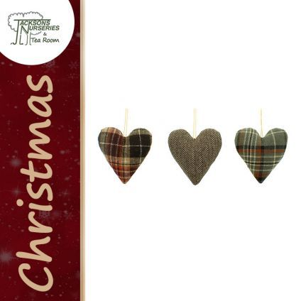Buy Fabric Heart Christmas Decoration online at Jacksons Nurseries
