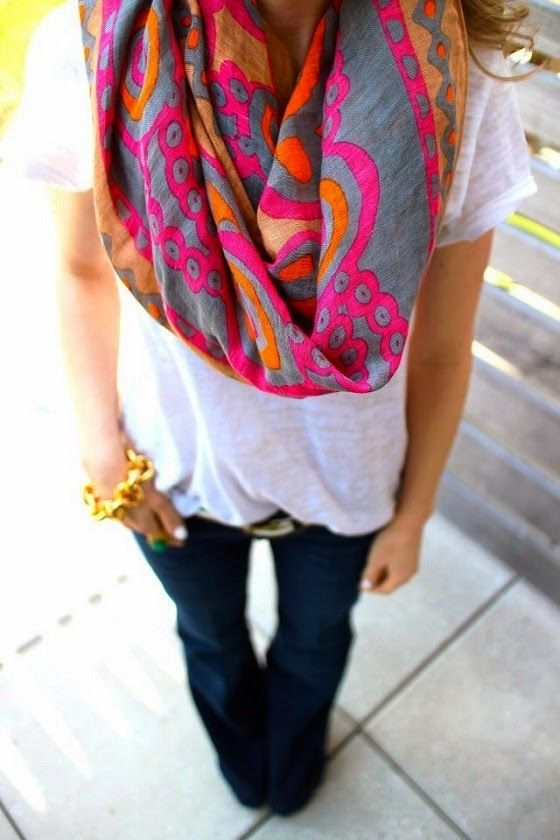 so inspired by the colors in this scarf!!