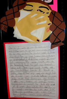 Step into 2nd Grade with Mrs. Lemons: When I was sick writing