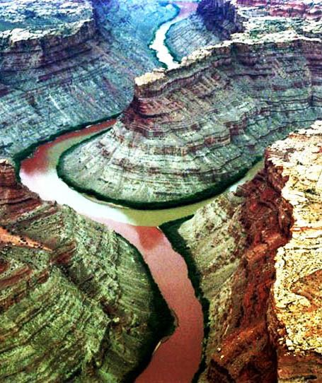 Confluence of Green River and the Colorado River, Utah, USA:
