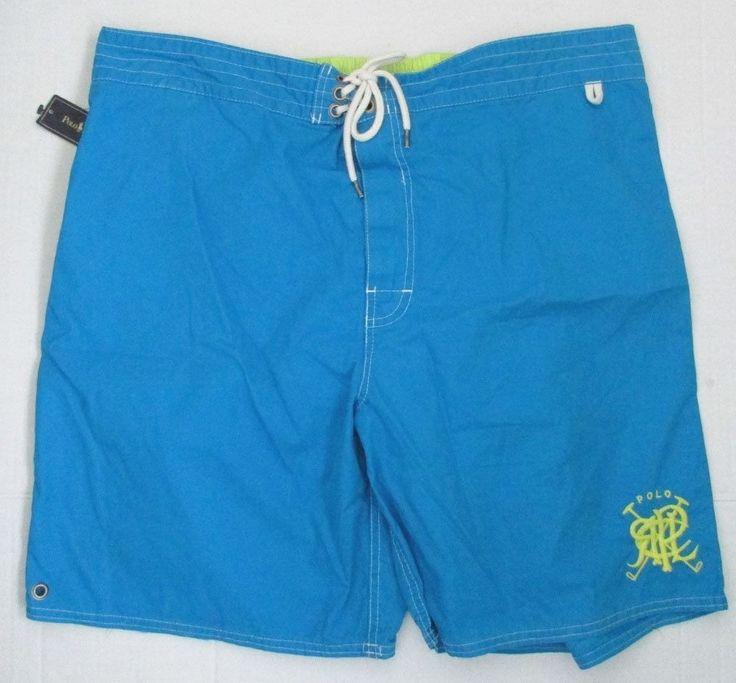 NWT Polo Ralph Lauren Swim Shorts Board Trunks Turquoise Blue Size XXL # RalphLauren #Trunks