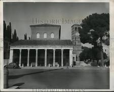 1949 Press Photo Church of San Lorenzo, Rome Reconstructed after Bombing