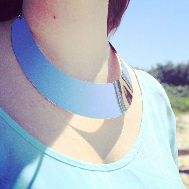 #silver #plate #necklace #beboldbefierce #standout http://www.befiercestore.com/#!necklaces/c1r6x