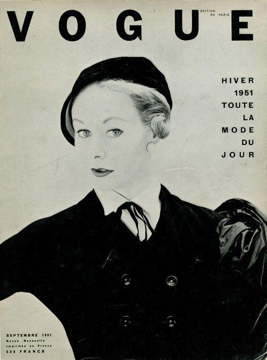 Vogue septembre 1951, robe Christian Dior, photo Henry Clarke