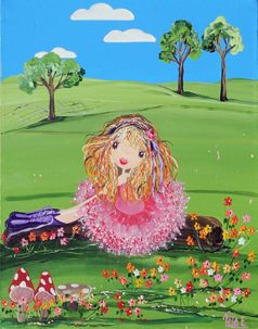 Time For Resting from my whimsical girls artworks by Peta E. More info about me at my website www.petae.com.au