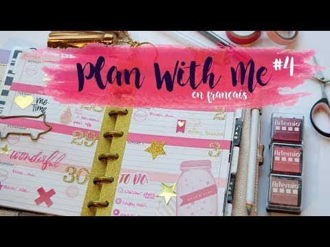 PLAN WITH ME #4 ~ Rose & Gold - Mini Happy Planner 2017 - Semaine 48 [FR] | Pnixie - YouTube