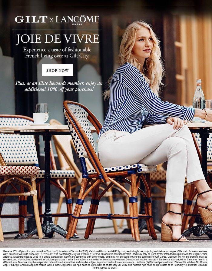 GILT x LANCÔME PARIS - JOIE DE VIVRE - SHOP NOW