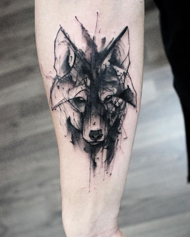 Wolf sketch tattoo