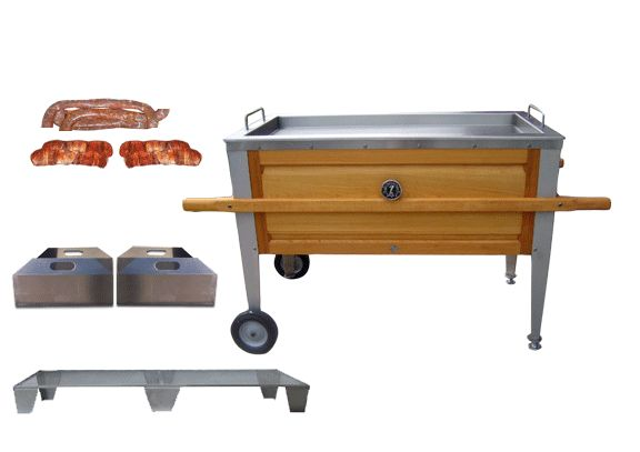 AL's Cajun Microwaves are charcoal heated dutch ovens used for cooking outdoors.