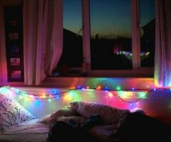 58 besten bildern zu tumblr rooms auf pinterest - Weihnachtsbeleuchtung Im Schlafzimmer