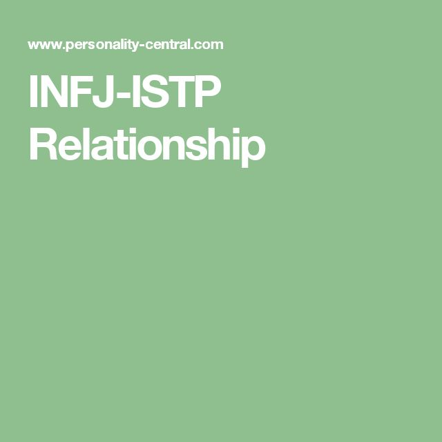 and istp relationship