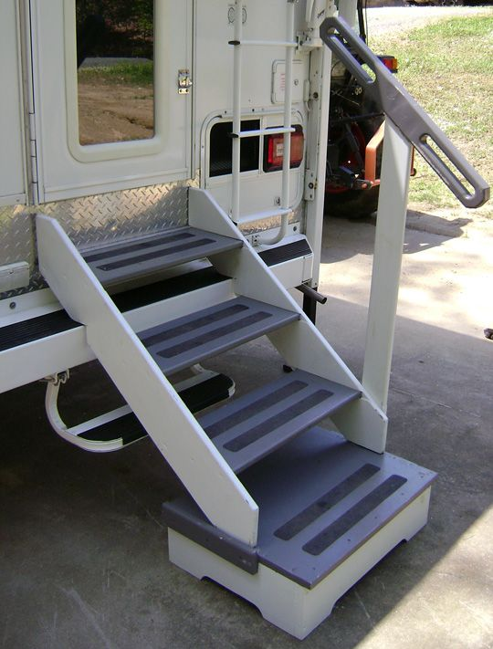 Steps For Rvs : Camper outdoor step modification top mod contest level