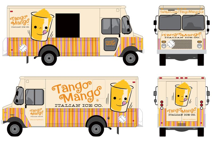Food Truck Design Tango Mango Italian Ice — Design by Studiofluid http://food-trucks-for-sale.com/