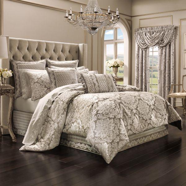 Bel Air By J Queen New York Queen Comforter Set Sand Luxurious