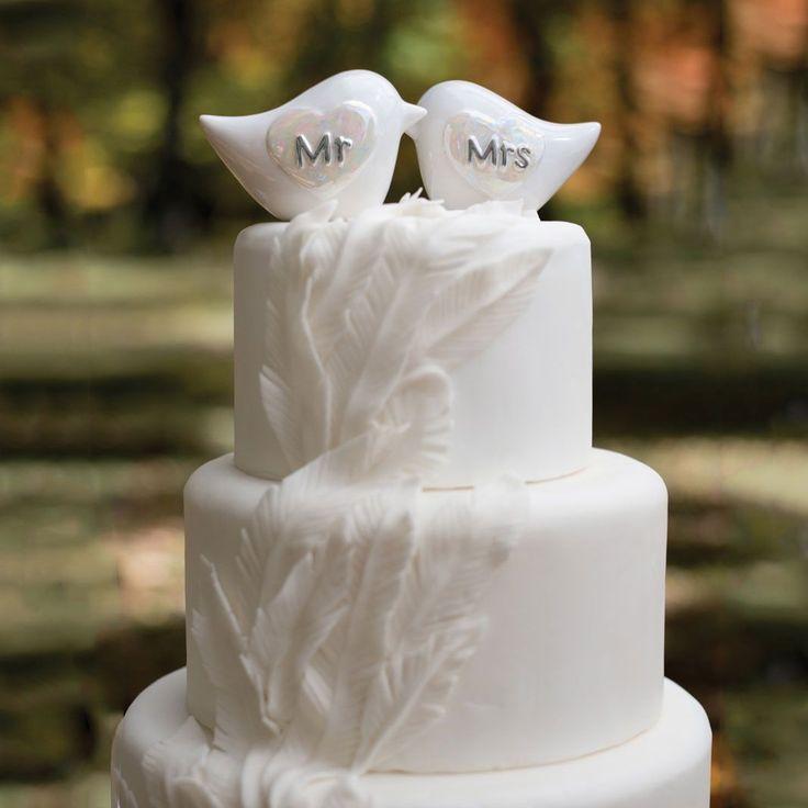 Mr and Mrs Porcelain Love Bird Wedding